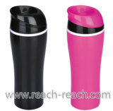 450ml Double Wall Auto Seal Plastic Travel Mug (R-2332)