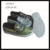 Latest Design Injection Women Canvas Shoes Denim Shoes (ST7410-5)