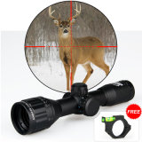 6X32mm 4 Level Brightness Adjustable Red/Green/Blue Illuminated Rifle Scope Side Focus Sight Hunting and Shooting