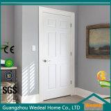 Textured 6 Panel Primed Composite Molded Bored Interior Wood Door