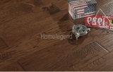 Black Brown Color Handsculpted Rustic Hickory Hardwood Flooring Hickory Engineered Wooden Flooring