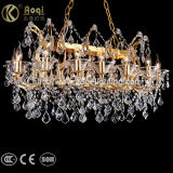 Long Golden K9 Crystal Chandelier Light