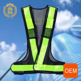 OEM Yellow High Visibility Road Cycling Safety Reflective Vest with Your Own Logo