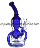 2017 Newest Blue Color Recycler Glass Water Pipe Hookah