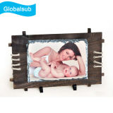 Sublimation Photo Slate with Wooden Frame -Small Rectangle
