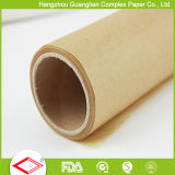 Custom Unbleached Brown Silicone Treated Baking Paper Roll From Factory