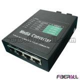 10/100m Media Converter Two Fiber Ports Four RJ45 Ports 40km