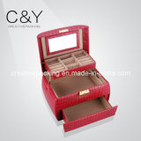 Plastic Mold Leather Wrapping Jewelry Gift Box (CYJ-088)