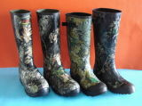 Camo Hunting Rubber Rain Boots, Camo Rubber Boots, Hunting Boot