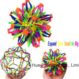 Mini Expanding Sphere Ball Plastic Kids Toy Rainbow Color