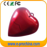 Red Heart Shape Plastic USB Flash Drive for Laptop (EP280)
