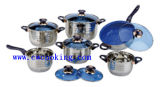 12PC Stainless Steel Cookware Set Acero Inoxidable Bateria Cocina