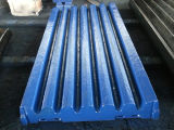 Movable/Swing and Fixed Jaw Plate for Jaw Stone Crusher Spare Parts