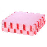 Cross Pattern Design EVA Foam Interlocking Floor Pink Mat
