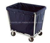 Hotel Useful Linen Trolley with Stainless Steel Tubular Frame