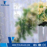 4-6mm Acid Etched Art Glass for Decorative Wall Glass