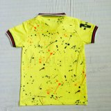 Boy Contrast Tipped Print Polos Shirt in Kids Clothes