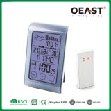 Touch Screen Big LCD Digital Weather Station Clock with Barometric