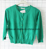 Round Neck Green Knitted Apparel for Women