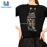 Fashionable Women Knitwear with Printing Cat