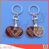 Custom Shopping Cart Coin Keychains for Promotional Gifts