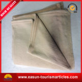 Wearable Throw Thick Wool Blanket for Airplane and Hotel
