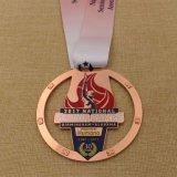 Custom Metal Shiny Gold Marathon Finisher Medal for Events