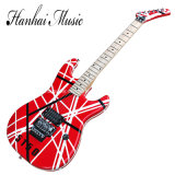 Hanhai Music / Kramer Style Red Electric Guitar with Floyd Rose