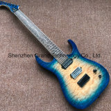 7 Strings Electric Guitar in Blue Burst with Black Hardware (GM-22)