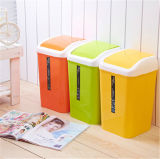 8L Plastic Household Trash Can with Variety Colors