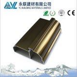 Champagne Anodized 6063 T5 Aluminum Profile for Windows and Doors