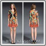 Designer Women Fashion Summer Dress Floral Printed Party Dress