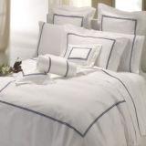 100% Egyptian Cotton 600tc Cotton Percale Crisp White Bedding Linen (DPFB8087)