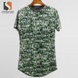 Fashion Cult Streetwear Hipster Hip Hop Elong Round Hemline Crewneck Holes Design T-Shirt