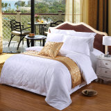 China Supplier White Cotton Satin Jacquard Five Star Hotel Bedding