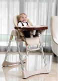 Plastic Baby Dining High Chair Removable Pads Easy Wash