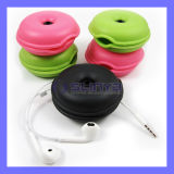 Factory Supply Round Soft TPR Material Turtle Earphone Cable Winder