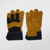 Cow Split Leather Reinforcement Palm Work Glove