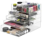 Clear Acrylic Makeup Storage Drawers
