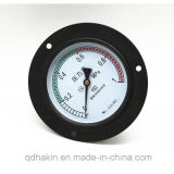 Axial Back Connection Pressure Gauge with Fronge