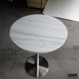 Kkr Modern Round Coffee Table, Solid Surface Dining Table