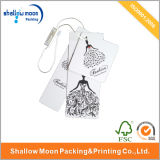 2016 New Design White Handmade Paper Hang Tag (QY150131)