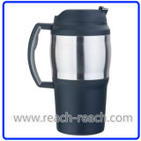 800ml PP Double Wall Plastic Beer Travel Mug (R-BK007)