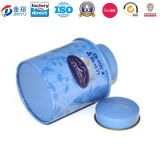 Shiny Color Printed Round Tin Box for Dry Food Packing with Mushroom Lid