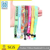 Cheap Wholesale Custom Promotion Give Away Gift Fabric Woven Wristbands