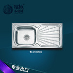 Stainless Kitchen Sink Single Bowl with Pattern on Board Wls10050-B