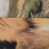 Imitation Horse Hair Printed Leather for Shoes (HS-M208)