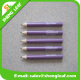 Purple Round Short Pencil with One Print Logo Color