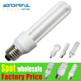 Supplier Hot Sale Cheap Wholesale 2u/3u/4u Energy Saving Lamp Bulb /T3/T4/T5 Full Half Spiral Tube LED Light Lighting / E27/B22/E14/E40 Lotus Energy Saving CFL