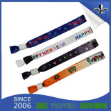 Custom Cheap Festival Polyester Woven Wristbands with Logo